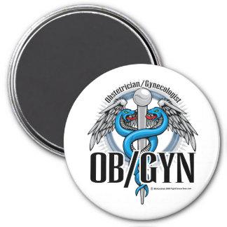 Caduceo del azul de OB GYN Iman De Frigorífico