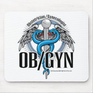 Caduceo del azul de OB/GYN Tapete De Ratón