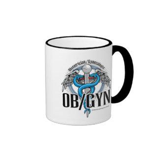 Caduceo del azul de OB/GYN Taza A Dos Colores