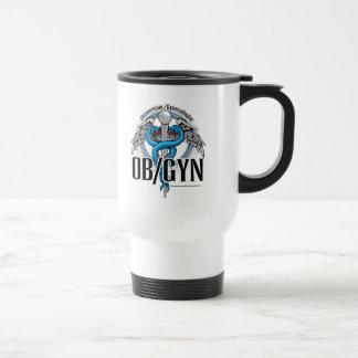 Caduceo del azul de OB GYN Tazas De Café