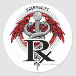 Caduceo del farmacéutico pegatinas
