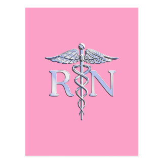Caduceo del RN de la enfermera registradoa en la Postales
