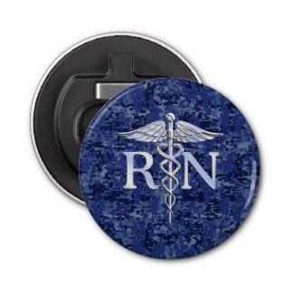 Caduceo del RN de la enfermera registradoa en los Abrebotellas Redondo