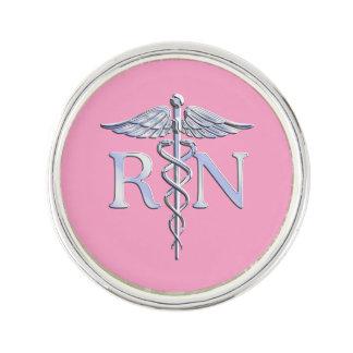 Caduceo del RN de la enfermera registradoa en rosa Insignia