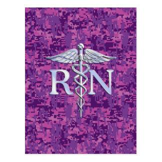 Caduceo del RN de la enfermera registradoa en Tarjeta Postal