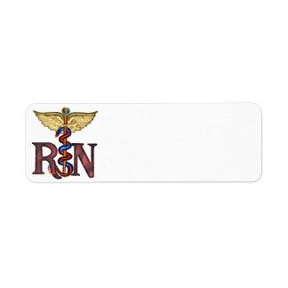 Caduceo del RN Etiqueta De Remitente