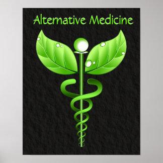 Caduceo: Impresión del poster de la medicina