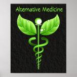 Caduceo: Impresión del poster de la medicina alter