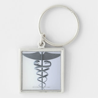 Caduceo médico del metal llavero personalizado