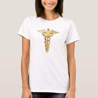 Caduceo médico del oro playera