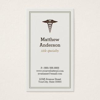 Caduceo médico del profesor estudiante - obra tarjetas de visita