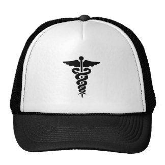Caduceo médico del símbolo gorro de camionero