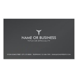 caduceo médico simple tarjeta de visita