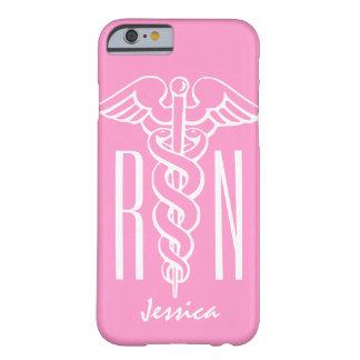 Caduceo rosado del caso el | del iPhone 6 de la Funda Barely There iPhone 6