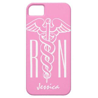 Caduceo rosado del caso el   del iPhone de la enfe