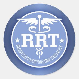 Caduceo RRT 2 Pegatina Redonda