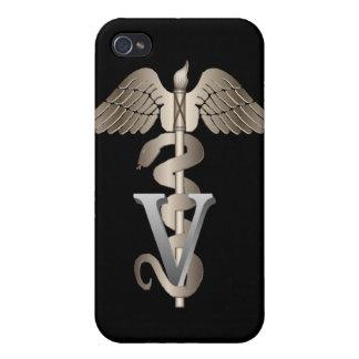 Caduceo veterinario iPhone 4 carcasas
