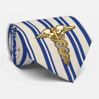 Caduceo y rayas corbata personalizada