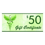 Caduceus Alternative Medicine $50 Gift Voucher Rack Cards