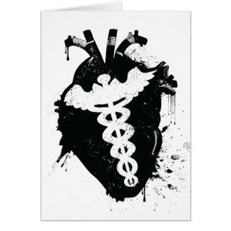 caduceus anatomical heart card