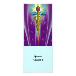 CADUCEUS blue violet purple amethyst white Card