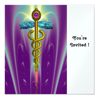 CADUCEUS blue  violet purple amethyst white ice Card