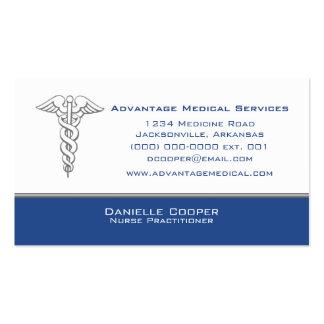 Caduceus Business Card, Blue