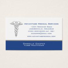 Caduceus Business Card, Blue Business Card at Zazzle