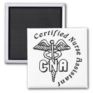 CADUCEUS CNA CERTIFIED NURSE ASSISTANT 2 INCH SQUARE MAGNET
