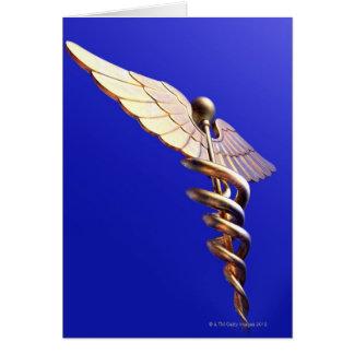 Caduceus, computer artwork. The caduceus is an Card