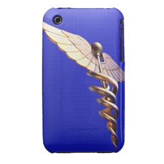 Caduceus, computer artwork. The caduceus is an iPhone 3 Case-Mate Case