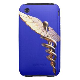 Caduceus, computer artwork. The caduceus is an Tough iPhone 3 Cover