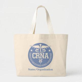 Caduceus CRNA gift ideas Large Tote Bag