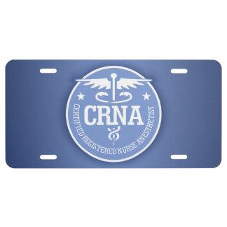 Caduceus CRNA gift ideas License Plate