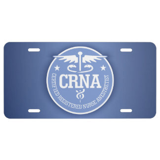 Caduceus CRNA gift ideas License Plate