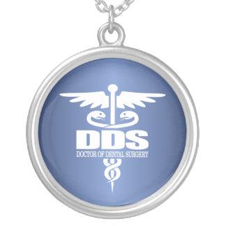 Caduceus DDS Round Pendant Necklace