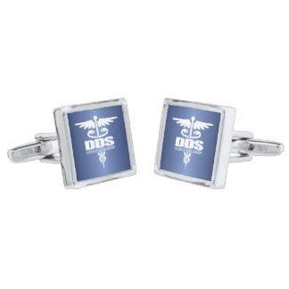 Caduceus DDS Silver Cufflinks