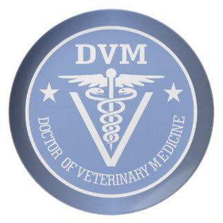 Caduceus DVM 2 Melamine Plate