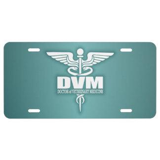 Caduceus DVM 3 License Plate