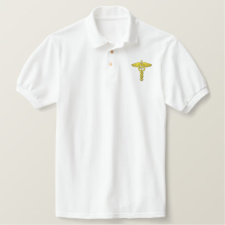 Caduceus Embroidered Polo Shirt