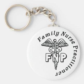 CADUCEUS FNP FAMILY NURSE PRACTITIONER BASIC ROUND BUTTON KEYCHAIN