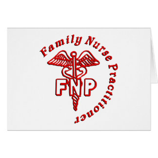 CADUCEUS FNP FAMILY NURSE PRACTITIONER GREETING CARD
