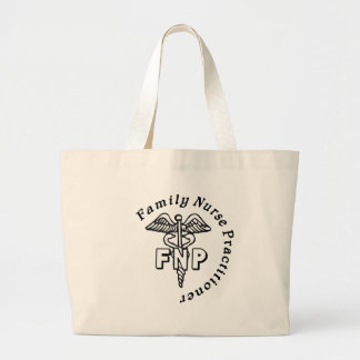 CADUCEUS FNP FAMILY NURSE PRACTITIONER JUMBO TOTE BAG