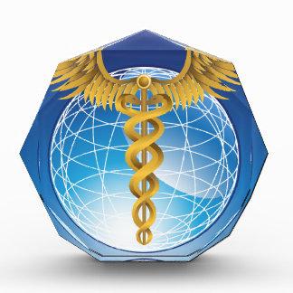 Caduceus Gold with Globe Awards