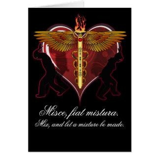 Caduceus Heart V-1, Misce, fiat mistura Card