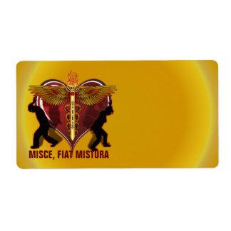 Caduceus Heart V-1, MISCE, FIAT MISTURA Label