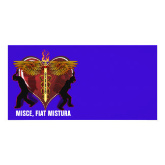 Caduceus Heart V-1, MISCE,FIAT MISTURA Photo Card
