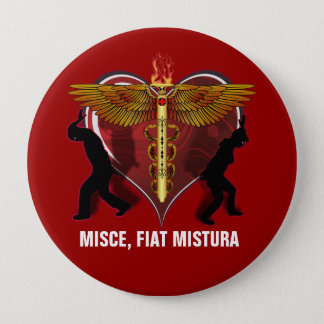Caduceus Heart V-1, MISCE, FIAT MISTURA Pinback Button
