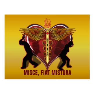 Caduceus Heart V-1, MISCE, FIAT MISTURA Postcard