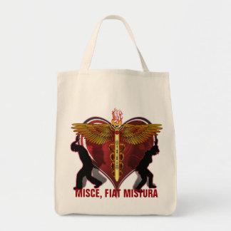 Caduceus Heart V-1, MISCE, FIAT MISTURA Tote Bag